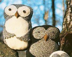 Knitted Owl Cushions - Digital Knitting Pattern