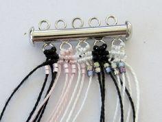 Lacy macrame bracelet