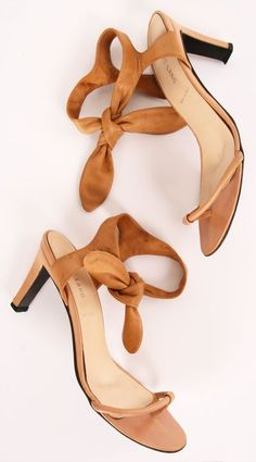 Knot detail summer high heel sandals