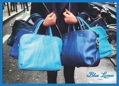 50 shades of blue ! 50 Shades, Shades Of Blue, Bucket Bag, Fashion, Purse, Woman, Fashion Styles, Bags, Moda