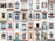 """Portuguese photographer André Gonçalves started out taking snapshots of colorful windows in his native Évora; his """"Windows of the World"""" project has since grown—and gone viral. Gonçalves spoke to Conde Nast Traveler about the windows that inspire. Travel Around The World, Around The Worlds, Beautiful Collage, Beautiful Images, Goncalves, Windows And Doors, Architecture Details, House Styles, Buildings"""