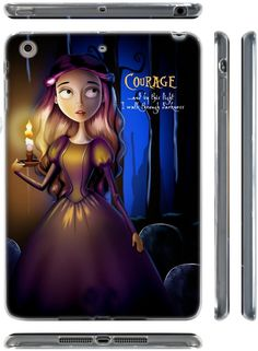 """Amazon.com: Purple, Blue, and Black {Gothic Girl in Dark Forest} Soft and Smooth Silicone Cute 3D Fitted Bumper Back Cover Gel Case for iPad Mini 1, 2 and 3 by Apple """"Durable and Slim Flexible Fashion Cover with Amazing and Creative Cartoon Design - All Ports Accessible"""": Computers & Accessories"""