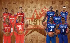 NBA All Stars basketball West vs East