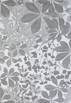 The 'W is for Wallpaper' exhibition at the Ruthin Craft Centre includes wallpaper designed by Marthe Armitage.