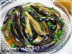【農家のレシピ】冷た~い☆中華風蒸しなすの画像
