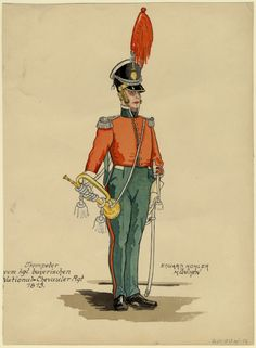 Bavaria; ChevauLegers Regt, Trumpeter, 1813
