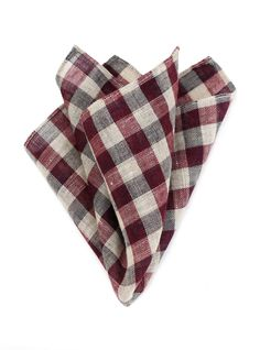 Gingham Pocket Square in Wool via Bows-N-Ties