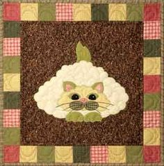 "This is block seven of the popular StoryQuilt series, Garden Patch Cats by Helene Knott. The quilt block finishes at 18"" square. This pattern includes a recipe for Cheese and Sesame Cauliflower. Chees"