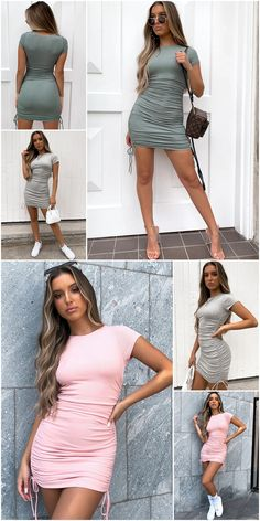 Winter Fashion Outfits, Casual Outfits, Cute Outfits, Fashion Dresses, Fast Fashion Brands, Short Dresses, Summer Dresses, Outfit Combinations, Hot Dress