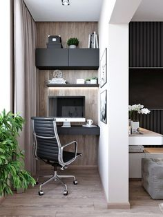 Discover more about home office decorating plantsCheck the webpage to find out more. Home Office Design, Home Office Decor, Interior Design Living Room, Living Room Designs, House Design, Home Decor, Small Home Offices, Small Apartments, Bedroom Workspace