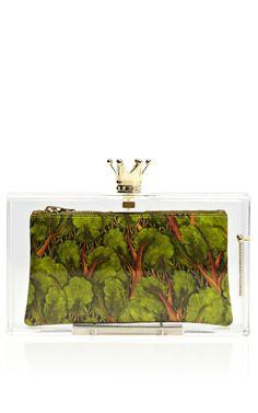 Enchanted Forest Royal Pandora Perspex Clutch by Charlotte Olympia - Moda Operandi