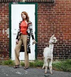 @Elizabeth Soety@EricaFleischmann Maybe one of the alpacas could model like Erica's doggie!!! LOL! :)