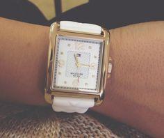 #present  watches,  white  #hilfiger Trendy Watches, Square Watch, Accessories, Fashion, Moda, La Mode, Fasion, Fashion Models, Trendy Fashion