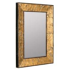 Zuma Natural Mirror With Gold Accents Cooper Classics Rectangle Mirrors Home Decor
