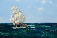 "Montague Dawson   ""Clipper Ship Lahloo""   The Coeur d'Alene Art Auction"