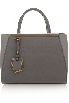 Fendi|2Jours small textured-leather shopper|NET-A-PORTER.COM