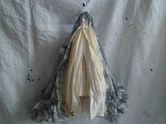 Assemblage Art Dress Made From Paper and Fabric - Elizabeth