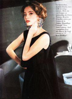 1992 -Lucie de la Falaise presents Yves Saint Laurent Couture collection