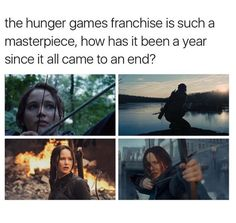 My favorite thing about Katniss is that she stays calm and collected, but sometimes she shows that besides the war she's fighting outside, she fights one on the inside too....