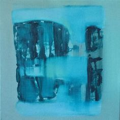 Artwork. Part 2 of the diptych. Oil on canvas, 30x30 cm, 2015, Venice #travelingram #contemporaryabstract #canvas #oilpainting #blue #interiordesign #gallery #abstract #landschaft #water #venice #artonline