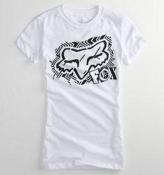<3 Simple white Fox racing shirt..