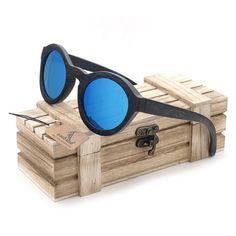 CHIC - Ebony Wooden Polarized Verre Polarisé, Lunettes De Soleil En Bois,  Oiseau, 4ac07e418363