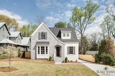 Painted Brick Exteriors, Stone Exterior Houses, Cottage Exterior, Tudor Cottage, Tudor House, Tudor Style Homes, Cottage Style Homes, Atlanta, House Painting
