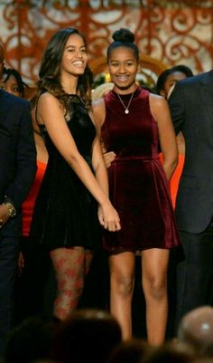 The First Daughters Sasha and Malia Obama