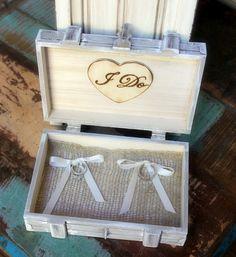 Ring Bearer Box Rustic Wedding Personalized by MinSvenskaLandgard, $28.95