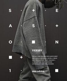 Adidas Originals x Kanye West YEEZY SEASON 1 in Typography