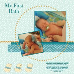 Stampin For Me: My First Bath Scrapbook Page