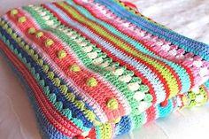 Ravelry: Mixed stitch stripey blanket crochet-a-long pattern by Julie at Little Woollie