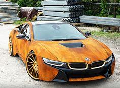 BMW i8 metrowrapz rust designboom