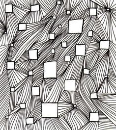 variation of line op art lesson**-connection to site is not available, but this is great