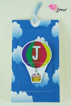 Convite Infantil Balão Peppa Pig