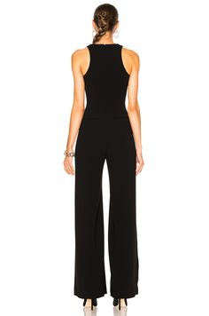 Mugler Technical Cady & Metal Jumpsuit in Black Multi | FWRD