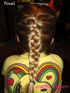 Crafty Biggers: French Braid How-To