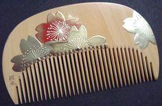 Makie -Sakura- Japanese cherry blossom Asian Hair Ornaments, Kimono Design, Vintage Hair Combs, Sakura, Hair Jewelry, Jewellery, Coral Blue, All Flowers, Hair Sticks