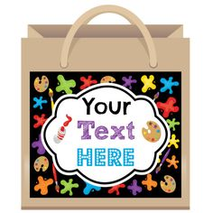 Paint Party Gift Bag Labels  6ct  Art Party Favors by TwistyTurtle