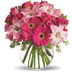 Beautiful gerberas and lillies