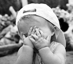 Shy kid, photographer unknown