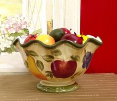 Purchase the Tuscan Collection Deluxe Hand-Painted Fruit Bowl at charingkitchen.com