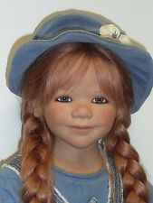 "33 7/8"" Annette Himstedt's Ida #37/377 From 2007 w/Box & COA Glass Eyes, HH Wig"