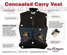 Concealed carry vest gun