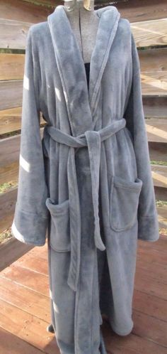 b06031ddcd Details about POTTERY BARN Luxe Cozy Robe Flagstone Gray LARGE Unisex. Dorm  Room ChecklistPjsPajamasClothing ...