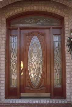 Estate Exterior Wood Front Entry Door Style DbyD-1327