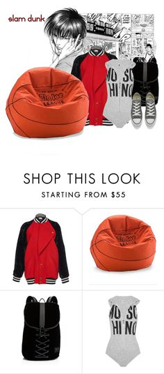 """""""slam dunk"""" by faye-valentine ❤ liked on Polyvore featuring Eterna, Lanvin, Puma, Moschino and Converse"""