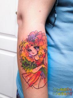 Candy by Noémie Alazard Watercolor Tattoo, Geek Stuff, Kawaii, Tattoos, Style, Tattoo Art, Geek Things, Swag, Tatuajes