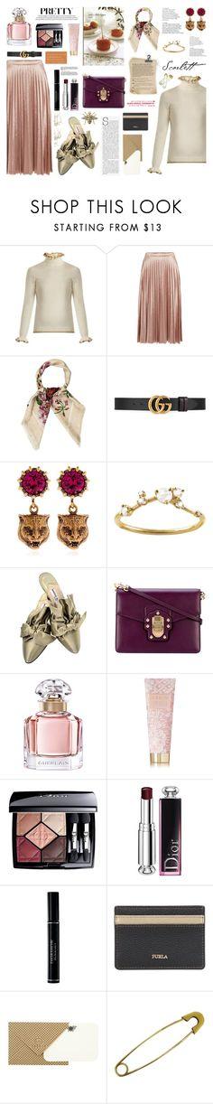 """velvet skirt ."" by francess-ali ❤ liked on Polyvore featuring Shrimps, Bardot, Gucci, WWAKE, Manolo Blahnik, Dolce&Gabbana, Guerlain, AERIN, Christian Dior and Furla"