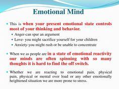 #DBT #Mindfulness ~ Emotion Mind   Pinned by Melissa K. Nicholson, LMSW http://www.mkntherapy.com
